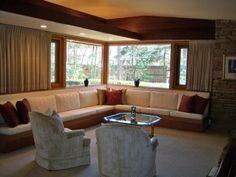 Built-in mid century sofa