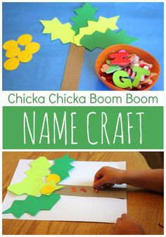 Toddler Approved!: Chicka Chicka Boom Boom Name Craft