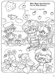 Coloring Book~Strawberry Shortcake Busy Book - Bonnie Jones - Picasa Web Albums