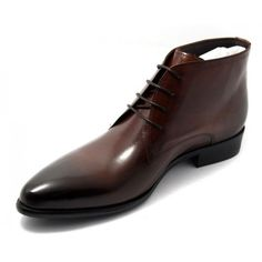 Handmade mens brown lace up Chukka leather boots, mens brown dress leather boots Brown Formal Shoes, Formal Shoes For Men, Mens Boots Fashion, Leather Fashion, Fashion Shoes, Suit Shoes, Dress Shoes, Suede Leather Shoes, Brown Leather