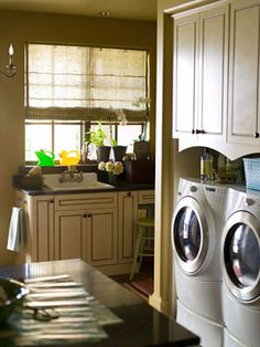Lively Laundry Rooms: Storage and Decorating Ideas