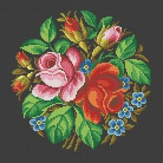 Antique Roses Small Bouquet Cross Stitch PDF by MyTreasureIsland