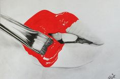 Drawing lips by ~elifww on deviantART