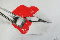 Drawing lips by ~elifww on deviantART
