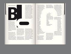 editorial design - blog negative space