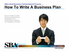 US Small Business Administration Learning Center  How to Write a Business Plan