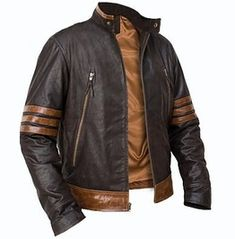 X Men 3 wolverine brown leather jacket is Inspired jacket worn by Hugh Jackman as Wolverine in the X-Men. Hugh Jackman biker leather jacket is light weight and perfect stylish. This Men's X-Men motorcycle jacket is made from soft sheep leather. Leather Jacket Brands, Men's Leather Jacket, Biker Leather, Leather Men, Real Leather, Leather Jackets, Sheep Leather, Motorcycle Leather, Studded Leather