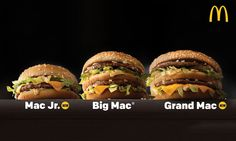 A BIG MAC WITHOUT THE CENTER BUN FINALLY! McDonalds Announces the Grand Mac and Mac Jr. Its New Big Mac Sizes #McDonalds #food #fastfood #delicious #eating #happymeal
