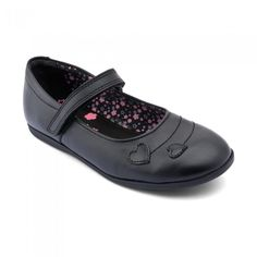 82cdbbc0380ae Saskia, Black Leather Girls Riptape School shoes Leather School Shoes, Childrens  Shoes, Girls
