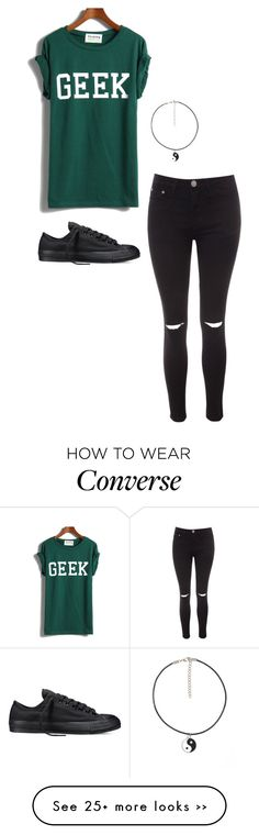 """Geek"" by buster-bess-brownie on Polyvore featuring Glamorous and Converse"