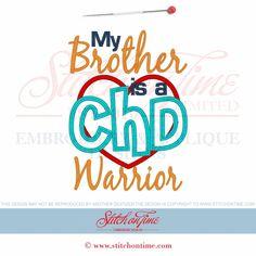 8 CHD : CHD Warrior Applique 5x7