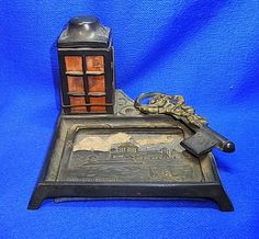 Antique German Souvenir Inkwell Coblenz Memorial