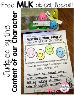 FREEBIE- Teaching about Martin Luther King Jr. to kinder, first, and second graders. This post is filled with free ideas, activities, and videos !