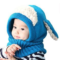 Baby Sets, Malltop Winter Baby Unisex-Kids Warm Woolen Cute Earflap Coif  Scarf Soft Hood Hats  brPackage include  b Winter Baby Kids Girls Boys Warm  Woolen ... 783f1b108da