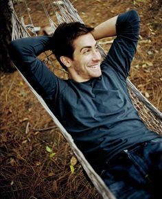 Jake Gyllenhaal! Look at him... being all sexy and cute and adorable and DAMN.
