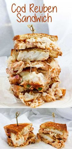 Could You Eat Pizza With Sort Two Diabetic Issues? This Cod Reuben Sandwich Is A Fishy Take On A Classic Deli-Style Reuben, And Is Piled High With Seared Cod, Sauerkraut, And A Homemade Yogurt-Based Russian Dressing. Grill Sandwich, Reuben Sandwich, Deli Sandwiches, Fish Sandwich, Sandwich Recipes, Cod Fish Burger Recipe, Pizza Recipes, Keto Recipes, Wrap Recipes