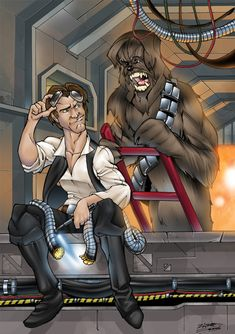 Han Solo and Cheewie colour, Thenota
