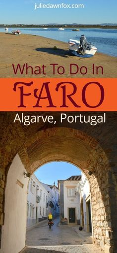 Insider travel guide to Faro, ancient capital city of the Algarve region in #Portugal. Things to do in the old town including museums, cathedral, bone chapels and shopping areas. How to get to Faro beaches and explore the beautiful Ria Formosa Nature reserve. Where to stay in Faro #hotels #accommodation #traveltips