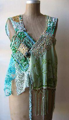 Minty Sleeveless Jacket by AllThingsPretty, via Flickr