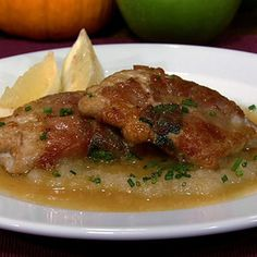 "Mario Batali's Saltimbocca Alla New Yorkese - This looked so yummy on the show ""The Chew"" I could almost smell it!"
