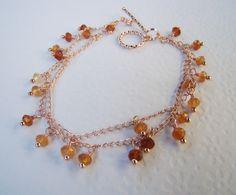 Autumn charm bracelet gemstone charm bracelet by 7PMboutique, $35.00