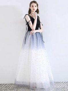 Color : Dark Navy Fabric : Tulle,Matte Satin,Lace Neckline : V-neck Style : Fashion Pageant Dresses, Formal Dresses, Matte Satin, Fashion Colours, Tulle, Sequins, V Neck, Lace