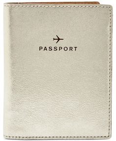 Fossil Leather Travel Passport Wallet - $40.00 | Macy's