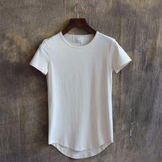 Línea larga costumbre camiseta hombres y tux tail tee largo y la cola caída camisetas ropa al por mayor fábrica