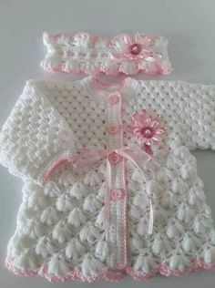Diy Crafts - Diy Crafts - Crochet baby gifts girl sweater patterns 69 Ideas for 2019 Crochet Wedding Dress Pattern, Crochet Baby Sweater Pattern, Crochet Baby Sweaters, Crochet Baby Jacket, Baby Sweater Patterns, Baby Girl Sweaters, Baby Girl Crochet, Crochet Bebe, Crochet Baby Clothes