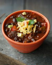 Game-Day Pork and Black Bean Chili from Andrew Zimmern