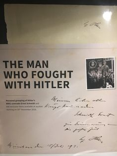 Original autograph of Hitler.