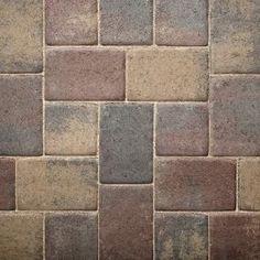Cambridge Cobble Paver for Patios, Driveways, Pools, Walkways - Autumn