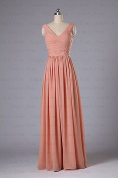 Custom A-line V-neck Sleeveless Floor-length Chiffon Romantic Evening Dress Party Dress Prom Dress Bridesmaid Dress 2013 New Arrival on Etsy, $96.00
