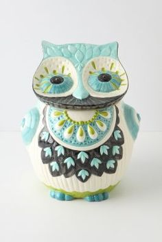 Bubo Cookie Jar - one of many cute owl cookie jars from @Anthropologie