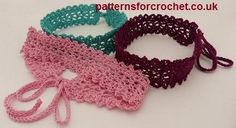 Free crochet pattern for a choker necklace by Patterns For Crochet.