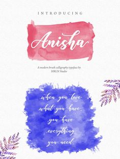 Many thanks to Herlan . for sharing this handy font called Anisha script. It is a brush calligraphy typeface which can be used for posters, invitations, flyers, etc. Brush Font, Calligraphy Fonts, Script, Typography, Invitations, Free, Letterpress, Script Typeface, Letterpress Printing