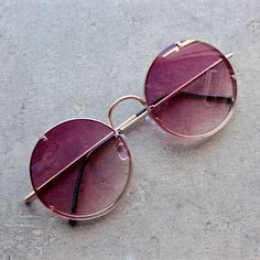 spitfire poolside in gold / purple gradient lens