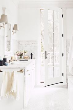 ... light and airy white bathroom