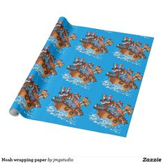 Noah wrapping paper great for Christmas wrapping birthday party his or her party cute, fun, cartoon design, home, craft idea, zazzle store, holiday,