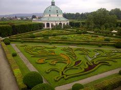 Gardens in Kroměříž, Czech Republic