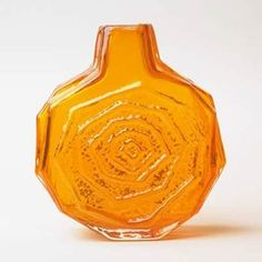 'Banjo' vase, mould-blown glass, designed by Geoffrey Baxter for James Powell & Sons (Whitefriars),about 1967-73. Find out more about the decorative art collection: http://www.liverpoolmuseums.org.uk/walker/collections/decorative-art/