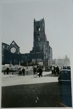This photo I took recently out of a old box and this is a picture of the allerheiligste hart van Jezuschurch. Rotterdam May 1940 architect E. J. Margry