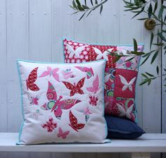 Sweet Mariposa Cushion Pattern by Claire Turpin Design