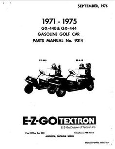 Ezgo 36068g01 2003 service parts manual for e z go electric powered ezgo 15077g1 1971 1975 parts manual for gx 440 and gx 444 golf publicscrutiny Image collections
