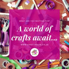 Visit our online arts and crafts store, we courier nationwide in SA! World Crafts, Home Crafts, Arts And Crafts, Art Craft Store, Craft Stores, Online Art, Community, House, Home