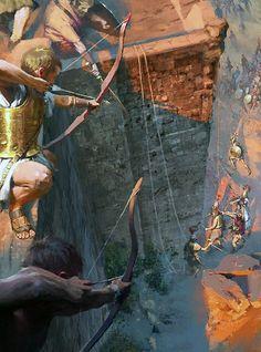 Trojan War - art by José Daniel Cabrera Peña & Rocío Espín Piñar Троя?