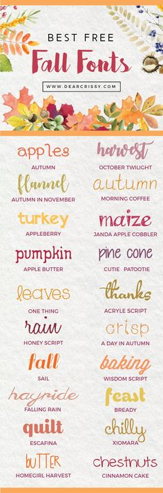 Autumn is in the air and these free fall fonts are sure to help inspire your next project! Fall is totally my favorite season. I'm ready for sweaters, scarves and pumpkin spice everything! I chose this collection of the best free fall fonts because each one of them puts me in the fall mood. If …