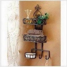 Wholesale Cheap Wrought Iron Shelf Online - Find Best Household Goods Get Plumbing Toilet Wall Shelf Corner Storage Shelves, Wall Hanging Shelves, Bathroom Shelves, Bathroom Rack, Shelf Display, Bathroom Storage, Bathroom Soap Holder, Tuscan Bathroom, Chinese Bathroom