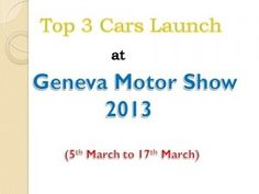 3 most luxury brands are coming with new car launches at 83rd geneva motor show 2013.Luxury ferrari enzo & rolls royce wraith debut at geneva auto show2013.