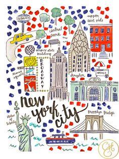 Mapa de la ciudad de Nueva York